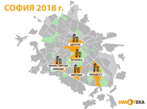 Топ 5 на кварталите с най-много сделки с имоти в София